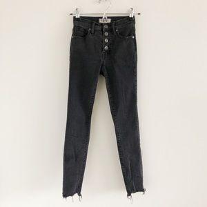 Madewell High-Rise Skinny Jeans Berkeley Black 23